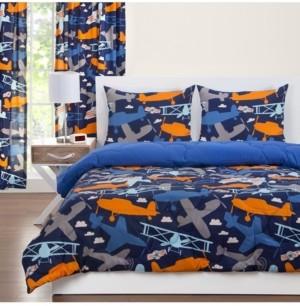 Crayola Take Flight 6 Piece King Luxury Duvet Set Bedding