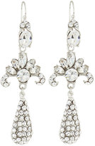 Jose & Maria Barrera Silvertone Deco Crystal Dangle Earrings