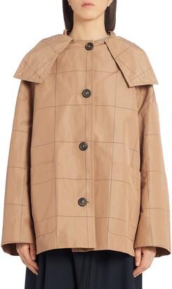 Marni Windowpane Check Short Swing Jacket