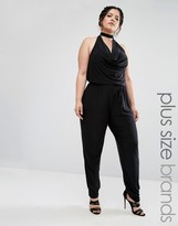 Club L Plus Jumpsuit With Choker Neck