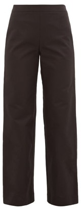 Merlette New York Kadapul Wide-leg Cotton-twill Trousers - Black