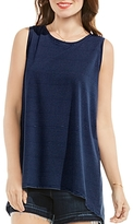 Vince Camuto Pinstripe High/Low Tank Top