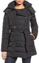 London Fog Women's Quilted Down Trench Coat