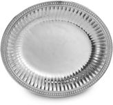 Wilton Armetale Flutes and Pearls 14-3/4-Inch Oval Tray
