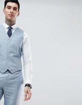 Gianni Feraud Wedding Slim Fit Plain Linen Suit vest
