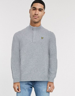Lyle & Scott 1/4 zip tipped funnel neck