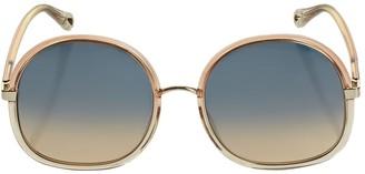 Chloé Franky Oversize Round Sunglasses