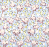 SheetWorld Fitted Pack N Play Sheet - Baby Lambs Blue - Made In USA - 29.5 inches x 42 inches (74.9 cm x 106.7 cm)