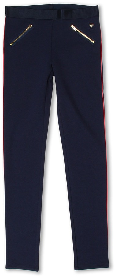 Juicy Couture Knit Ponte Pant (Toddler/Little Kids/Big Kids) (Regal w/ Bombshell) - Apparel