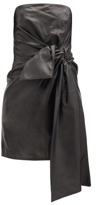 16Arlington Matsuko Knotted-front Leather Bandeau Dress - Black