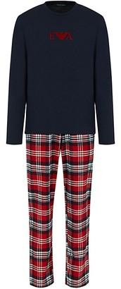 Giorgio Armani 2-Piece Flannel Plaid Pajama Set