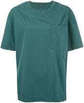 Closed pocket detail crew neck T-shirt - women - Cotton - XS