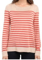 Vince Camuto Pink Striped Women's Size XL Crewneck Sweater