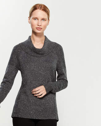 Calvin Klein Cowl Neck Side Panel Long Sleeve Sweater