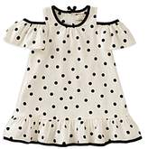 Kate Spade Girls' Cold-Shoulder Polka-Dotted Dress - Little Kid