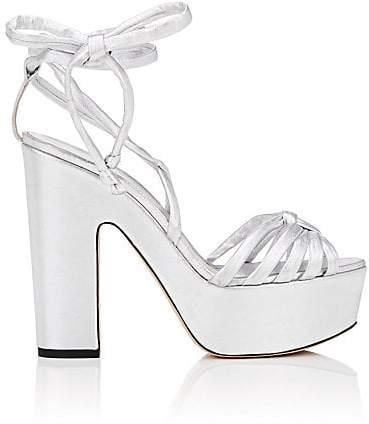 b862b759651f0 Silver Ankle Wrap Women's Sandals - ShopStyle
