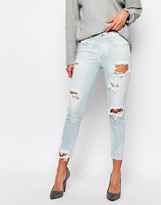 A Gold E A-Gold-E Sophie Ankle Grazer Skinny Jean With All Over Distressing