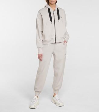 adidas by Stella McCartney Zip-up cotton-blend hoodie