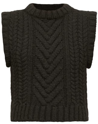 Cecilie Bahnsen Madelyn Cable-knit Sleeveless Sweater - Black