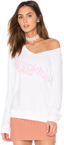 Wildfox Couture Breakfast Crew Top in White. - size XS (also in )