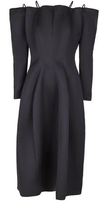 Maison Rabih Kayrouz Black Off Shoulder Full Skirt Dress