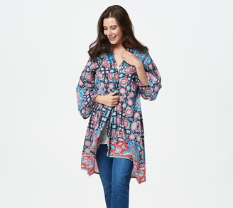 Tolani Collection Regular 3/4-Sleeve Printed Duster