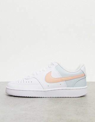 Nike court vision low in white and pastel