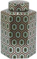 Three Hands Geometric Ceramic Jar - Silver
