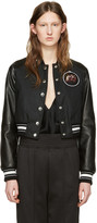 Givenchy Black Waxed Cotton Monkey Brothers Bomber