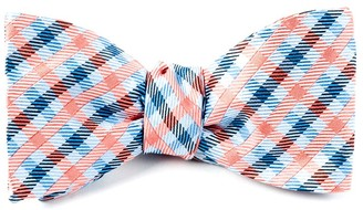 The Tie Bar Power Checks Coral Bow Tie