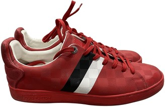 Louis Vuitton Fuselage Red Leather Trainers