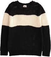 Douuod Two-Tone Striped Giaguaro Pullover