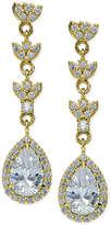 Giani Bernini Cubic Zirconia Halo Pear Drop Earrings in 18k Gold-Plated Sterling Silver, Created for Macy's
