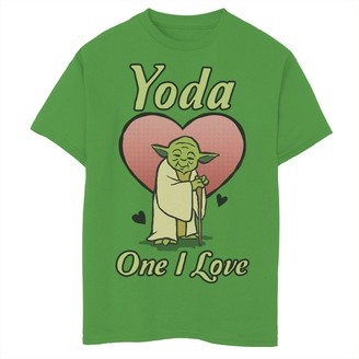 Star Wars Boys 8-20 Valentine's Day Yoda One I Love Graphic Tee