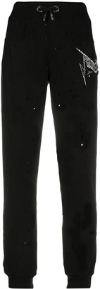 Philipp Plein Thunder ripped track pants