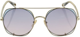 Chloé Demi Squared Metal Sunglasses