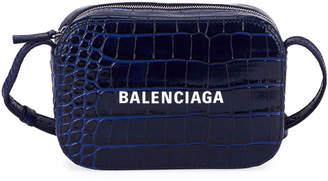 Balenciaga Everyday AJ XS Croco Logo Camera Bag