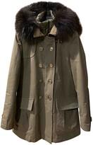Fay Green Cotton Coat for Women
