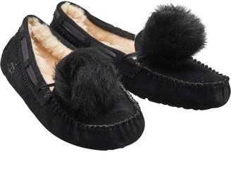 UGG Womens Dakota Pom Pom Slippers Black