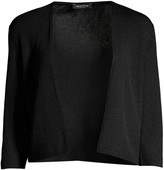 Lafayette 148 New York Open-Front Cropped Cardigan