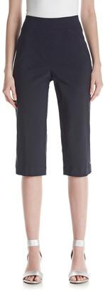 Alfred Dunner Women's Petite Capri Back Elastic Side Pockets