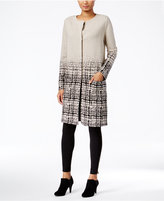 Style&Co. Style & Co. Plaid-Gradient Duster Cardigan, Only at Macy's