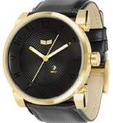 """Vestal Heavy-Duty Leather & Stainless Steel Watch """"Doppler"""""""