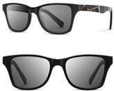 Shwood Women's 'Canby Ace - Feather' 54Mm Polarized Sunglasses - Black/ Feather/ Grey Polar