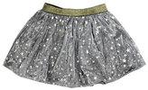 Imoga Helen Metallic Mesh Star Skirt, Gray, Size 2-6