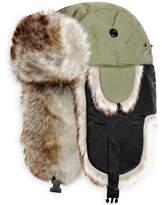 Woolrich Woolwich Men's Adjustable Trooper Hat with Faux Fur