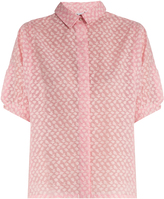 Thierry Colson Ios fil coupé silk-gauze shirt