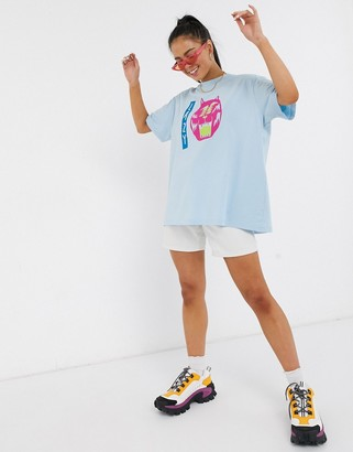 Lazy Oaf oversized t-shirt with eyes graphic