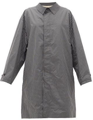 Raf Simons Single-breasted Checked Cotton-blend Coat - Black White