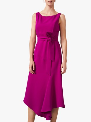 Phase Eight Tamara Asymmetric Hem Dress, Bright Plum